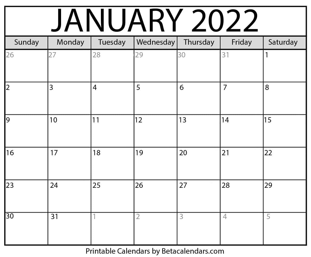 January-2022-Calendar