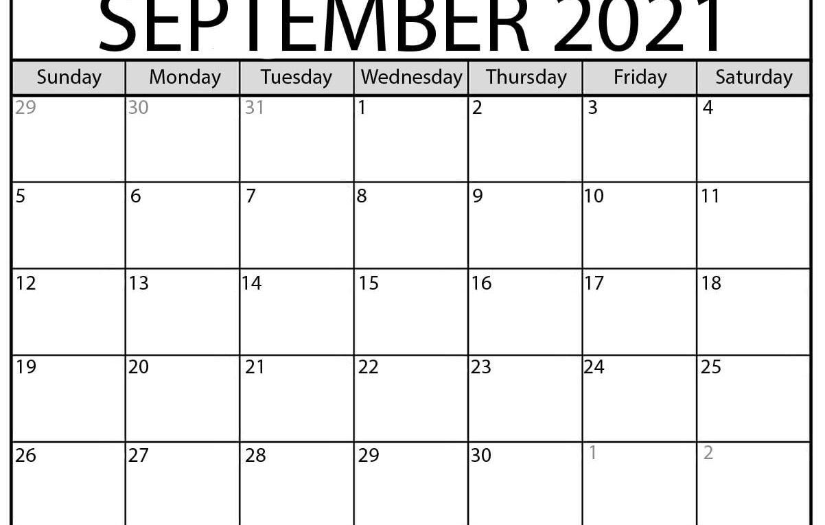 Photos of Calendar 2021 Sept