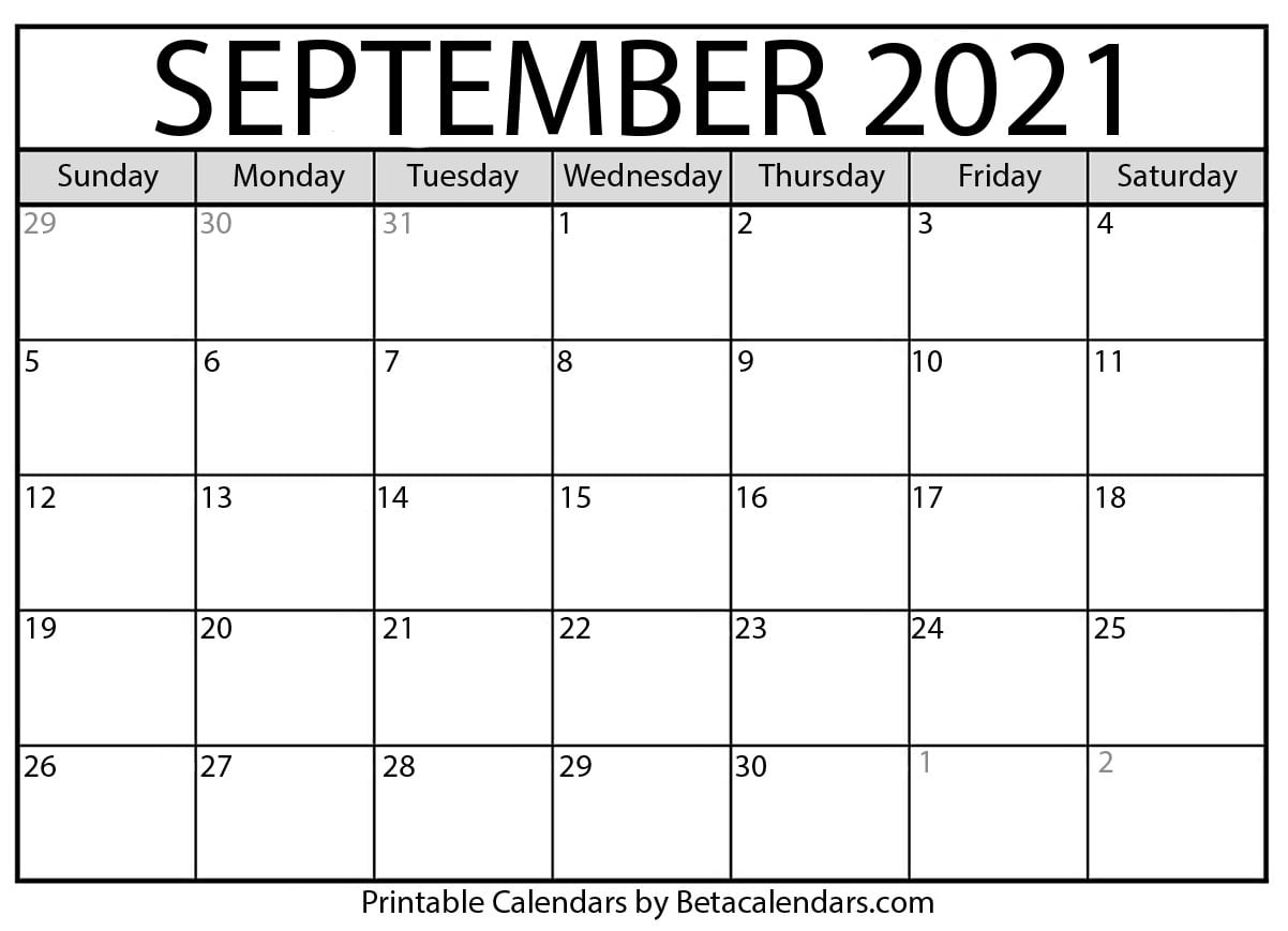 Calendar 2021 Sept Photos