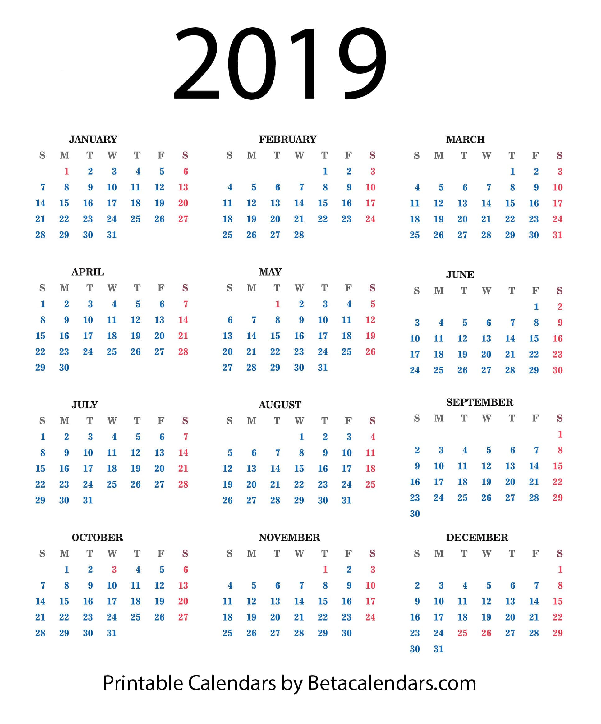 Beta Calendars