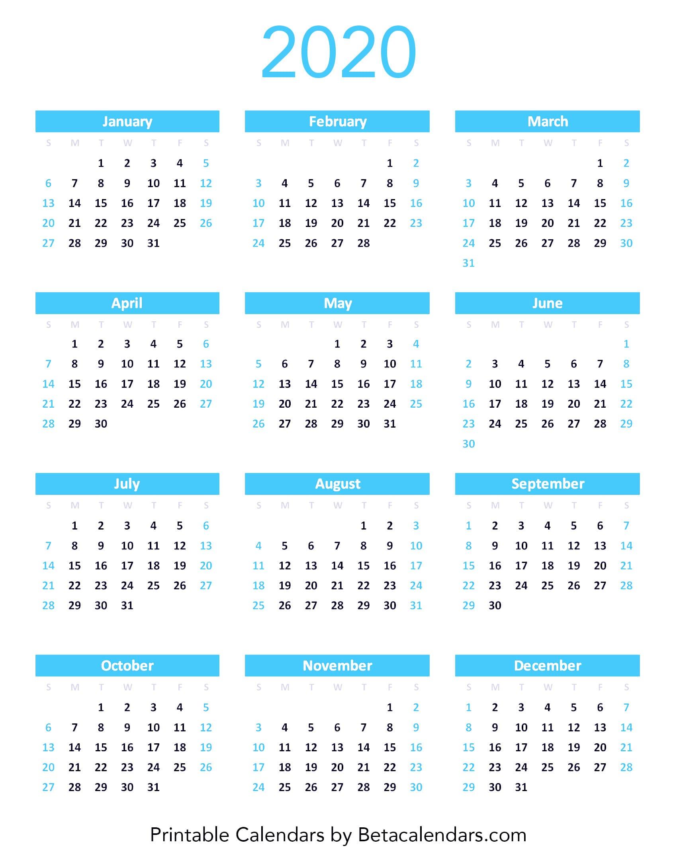 Calendar 2020.2020 Calendar Beta Calendars