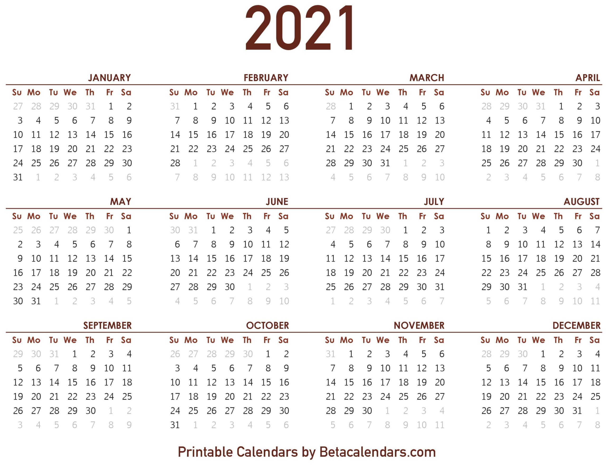 Show Me A 2021 Calendar 2021 Calendar   Beta Calendars