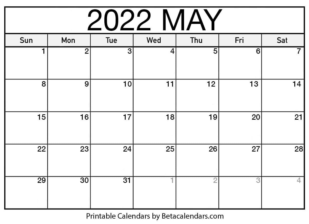 2022 May Calendar